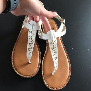 American Eagle White Sandals Size 9